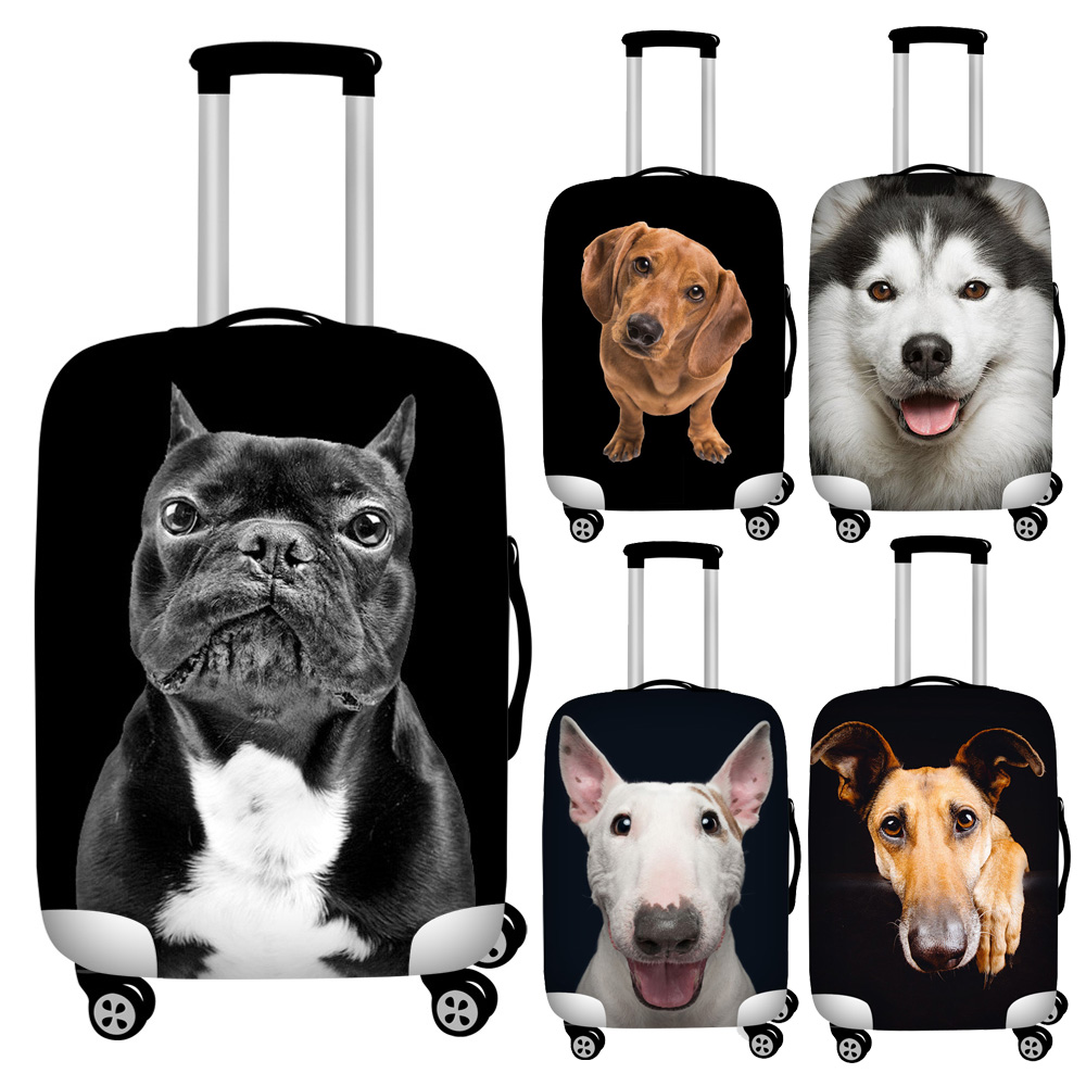 Twoheartsgirl Funny Animal Dog Elephant Print Travel Luggage Bag Covers Elastic 18-32inch Suitcase Protector Baggage Covers