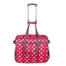 Bolso con ruedas para máquina de coser grande, bolso de almacenamiento para accesorios de costura enrollable con bolsillos y asas para Organizador