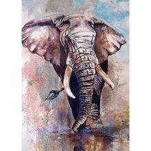 Elephant DIY 5D Full Diamond Painting Embroidery Cross Stitch Kit Rhinestone  Room Decor Craft Q6PE elephant 5d diy full drill diamond painting embroidery cross stitch kit room home decor craft q6pe
