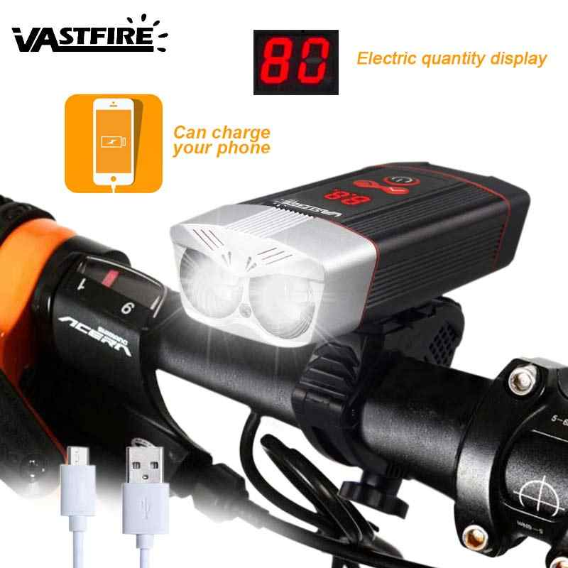 Floodlight Cycling Lights USB Charging With Power Indicator Base Bicycle Lamp US