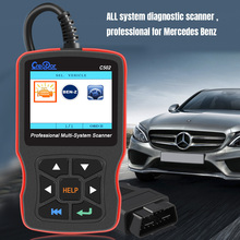 창조자 C502 OBD2 진단 도구 W203 메르세데스 벤츠 W211 OBD2 스캐너 지원 ABS 에어백 OBD 2 자동 진단 스캐너