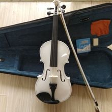 children   white violin full wood 1/8  1/4  2/4  3/4  4/4
