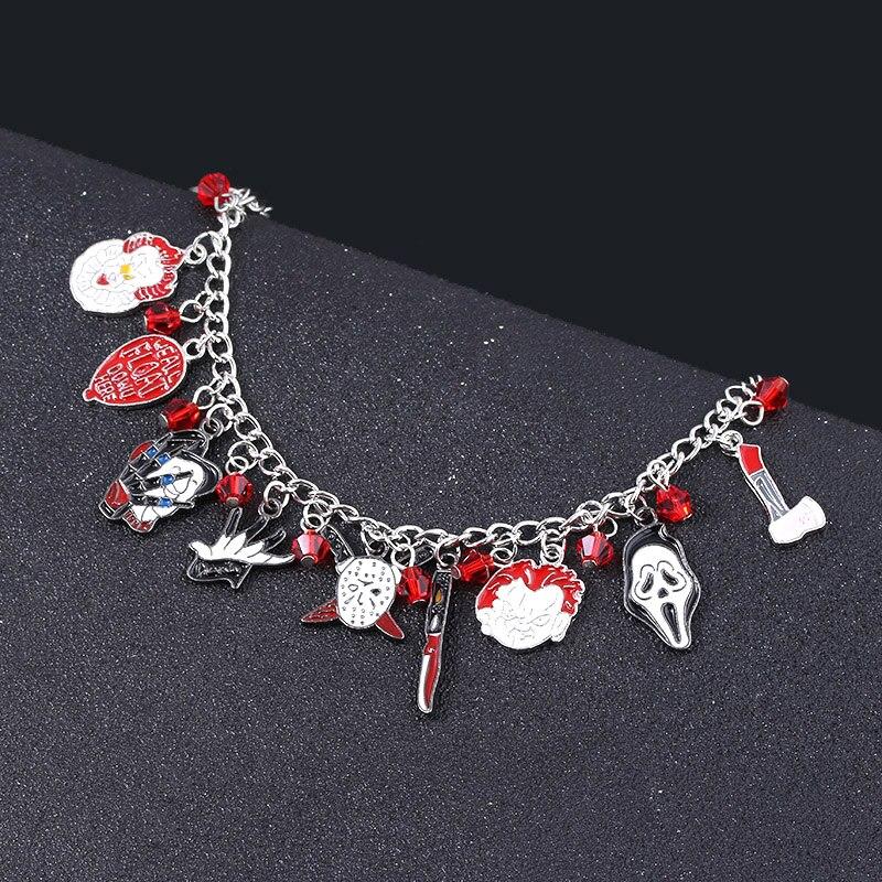 Ужас Чаки лицо Амулеты Браслет Пенни мудрый Джейсон хоккейный браслет браслеты для женщин мужчин Хэллоуин ювелирные изделия