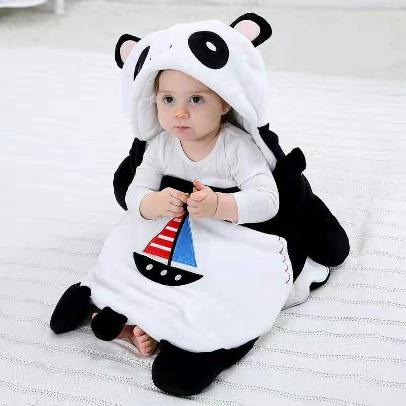 Мультфильм спальный мешок для малышей на Размер 0 12 мес., утепленный костюм для мальчиков теплая прогулочная коляска кровать Пеленальное Од