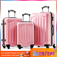 VOGVIGO 3pcs/set of Rose Gold Luggage Lightweight Hard Case Travel Trolley High Strength Carrying Suitcase Business Luggage Bags