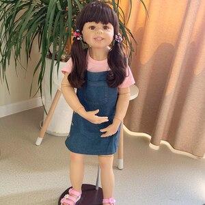 Muñeca Reborn de cuerpo entero de silicona para niña de 98cm, tamaño real de 3 años, bebés reborn, juguetes para bebés recién nacidos, modelo de ropa, muñecas