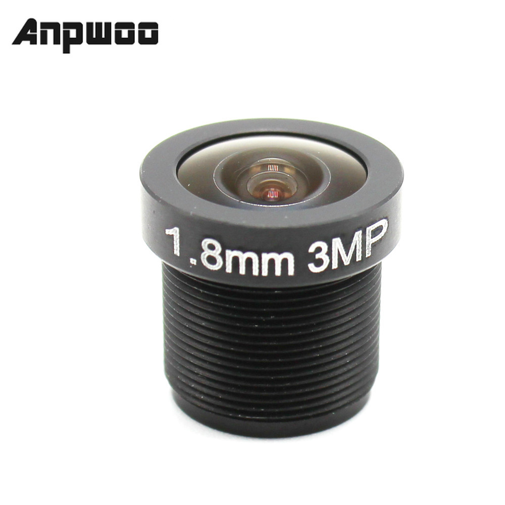 ANPWOO 2.8mm 1.8mm 3.6mm CCTV lens F2.0 M12*0.5 Wide View fisheye Lens M12 Mount Compatible Wide Angle CCTV Lens