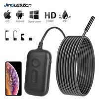 3X Zoom 1920*1080 HD Wireless Inspektion Kamera 2 0 MP 5 5mm WiFi Endoskop Semi Starre Schlange Kamera für Android & iOS iPhone-in Überwachungskameras aus Sicherheit und Schutz bei