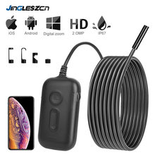3X Zoom 1920*1080 HD Wireless Inspection Camera 2.0MP 5.5mm WiFi Borescope Semi-Rigid Snake Camera for Android & iOS iPhone(China)