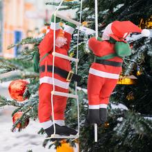 Christmas Pendant Santa Claus Hanging Doll Ladder Rope Climbing New Year Tree Decoration Christmas Tree Hanging Decor