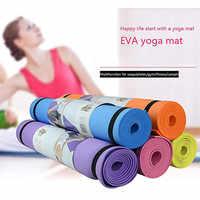 Entrega rápida de productos deportivos 4MM EVA grueso estera de Yoga duradera antideslizante ejercicio Fitness Pad Mat de Fitness ejercicio cuerpo perfecto