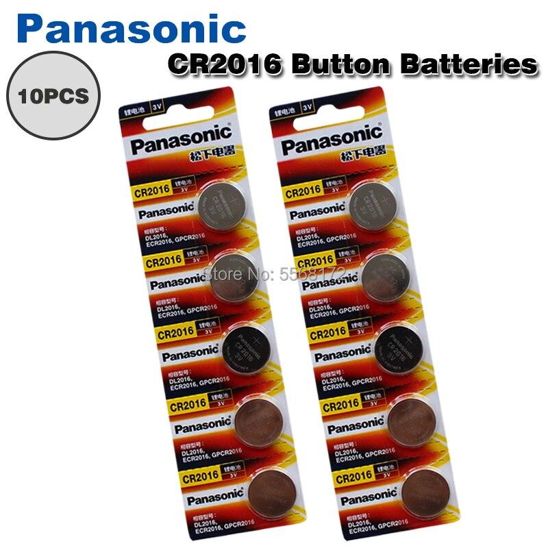 10 шт./лот PANASONIC оригинальный CR2016 кнопочный аккумулятор 3 в литиевые батареи CR 2016 для часов игрушек компьютера калькулятор управления
