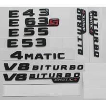 Gloss Black AMG Emblemas para W212 W213 E43 E53 E63 E63s 4MATIC V8
