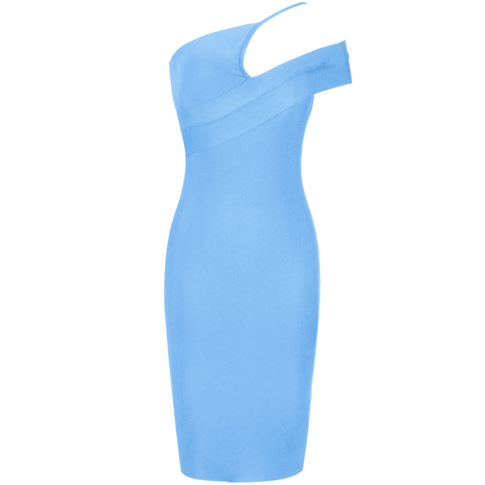 Image 3 - Deer Lady Celebrity Bandage Dress 2019 New Arrivals Women Blue 