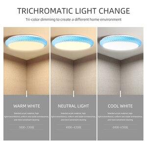 Image 4 - Lámpara de techo Led moderna, 220V, 36W, 72W, regulable, para sala de estar, montada en superficie para cocina y hogar