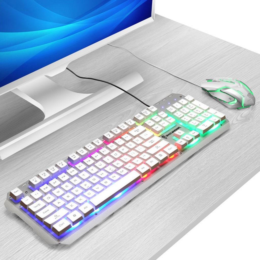 usb teclado mecânico backlight
