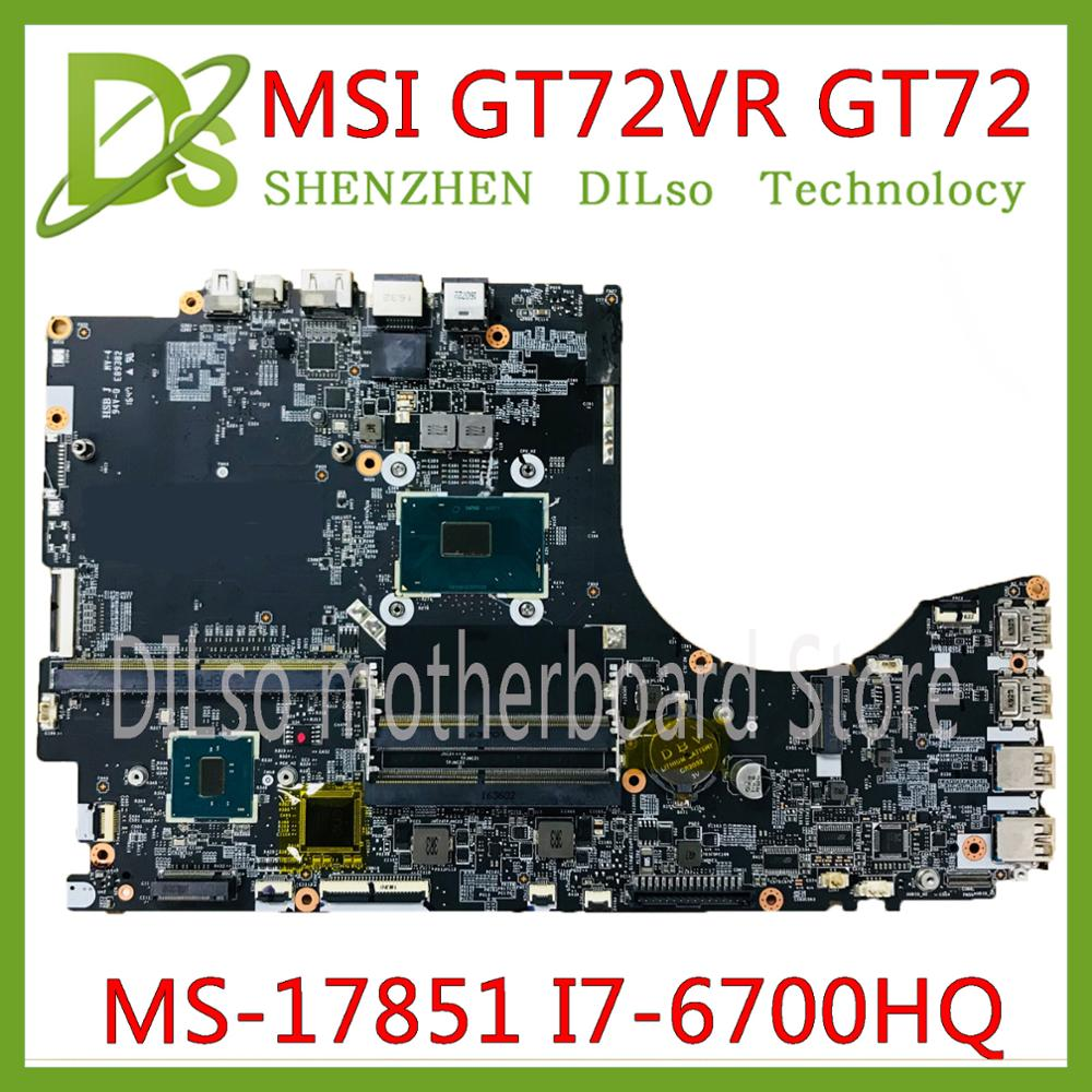 KEFU MS-17851 VER: 1.0 motherboard for MSI GT72 GT72RV notebook motherboard CPU <font><b>i7</b></font> <font><b>6700HQ</b></font> DDR4 100% Tested original image