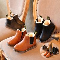 2019 New Autumn Children Shoes PU Leather Waterproof Leather Boots Warm Kids Snow Boots Girls Boys Rubber Boots Fashion Sneakers|baby beach shoes|slippers girls|kids sandals shoes -