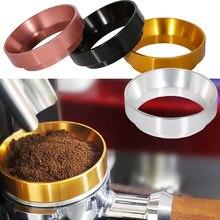 Café feito à mão 51/53/54/58mm espresso que dosa o alumínio do anel do funil distribuidor de café do alumínio do anel de dose do café
