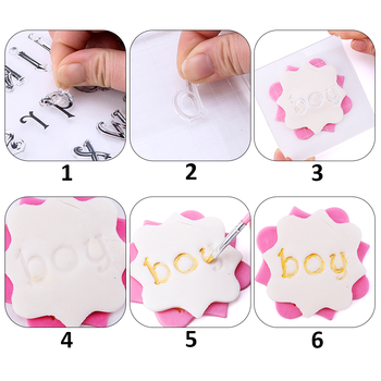 Stamps for cakes and cookies. A set of letters 2