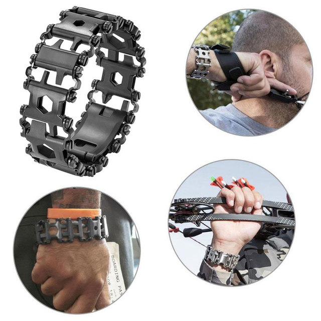 Multi function Tool Wearable Stainless Steel Bracelet 1