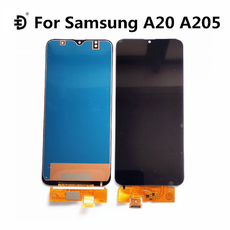 For Samsung Galaxy A20 A205 LCD DisplayTouch Panel Digitizer Screen For SAMSUNG A20 <font><b>A205F</b></font> <font><b>SM</b></font>-<font><b>A205F</b></font> TFT LCD Screen Replacement image