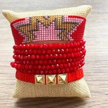 Красный браслет rttooas женский Миюки на удачу модный с кисточками