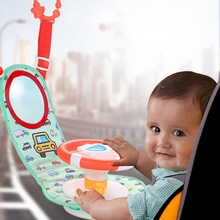Light Steering-Wheel Car-Toy Driving Simulation Music Pretending Early-Education Baby