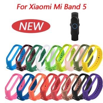 Sangles en Silicone pour Bracelet Mi 5 Bracelets de remplacement souples pour Xiaomi mi bande 5 Bracelet pour Bracelet de sport Miband 5 nfc