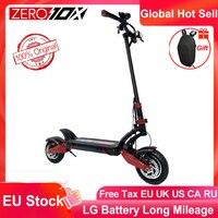 Patinete eléctrico de alta velocidad Zero 10X, 10 pulgadas, doble Motor, 60V, 2400W, 65 km/h, con regalos gratuitos