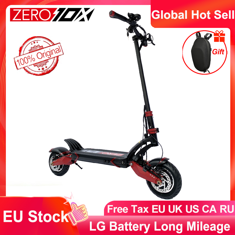 Newest Zero 10X scooter 10inch Double motor High Speed electric scooter 60V 2400W off-raod e-scooter 65km/h giving gift bag