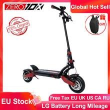 Новейшая модель; Нулевой 10X скутер 10 дюймов двойной двигатель высокое Скорость электрический скутер 60V 2400 Вт внедорожный е-скутер способный ...