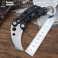 LCM66 Mini escorpião garra karambit faca de acampamento ao ar livre sobrevivência na selva batalha portátil Fixo faca coleção de caça facas