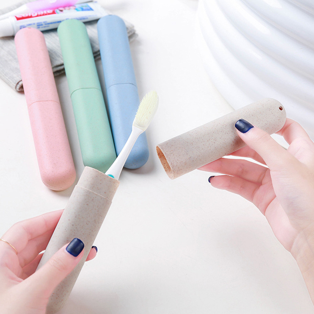 Portable Toothbrush Protect Holder Travel Camping Toothbrush Storage Box Cover