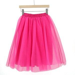 Image 4 - Summer Joker Tutu Skirt Women Plus Size Pleated  Green  Jupe Femme Faldas Rokken Custom Made 7 Layers Tulle  5XL