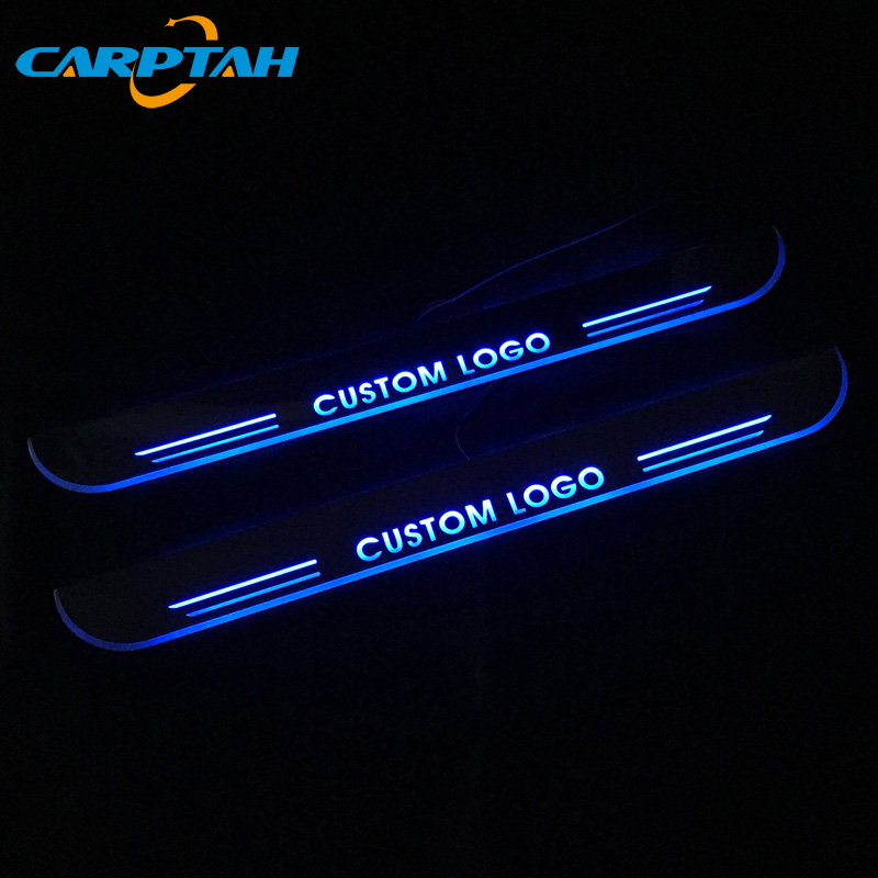 <font><b>Trim</b></font> Pedal <font><b>LED</b></font> Car Moving Light Door Sill Scuff Plate Pathway Dynamic Streamer Welcome Lamp For VW Volkswagen <font><b>Golf</b></font> 7 GTD 2014-16 image