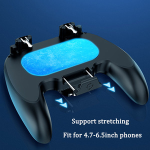 Image 3 - Freezing pubg controller gamepad cooler for mobile phone game shooter for iphone android L1R1 joystick pubg controller with fan