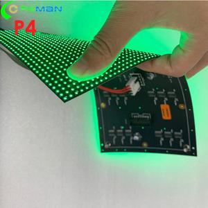 Image 1 - Thâm quyến Quảng Châu Đèn Led nhà xưởng sản xuất trong nhà cong mềm mại Màn hình LED MODULE P4 64x32 32x32 LED ma Trận