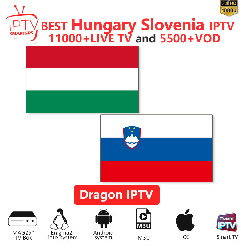Hungary IPTV M3U IPTV 10000+Live Channels For M3u Mag Box Smart Tv  Slovenia Iptv M3U Code Sports Puzzle Entertainment Channel