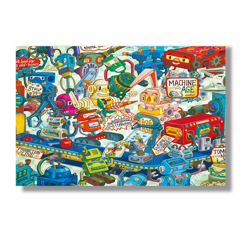 Plane Thousand Pieces Puzzle 1000 Adult Manual Decompression Toys Creative Decoration Painting Birthday Gift Children