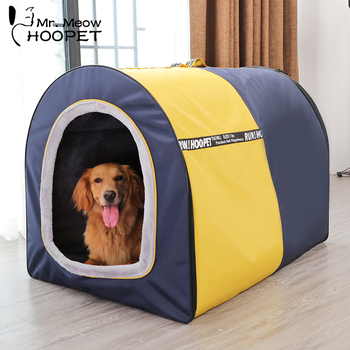 Hoopet Pet Large Dog Bed Tent House Warm Soft Nest Puppy Kennel Sofa Cat House Cat Sleeping Bag Bed pet house bed tent cat nest folding villa dog kennel indoor warm sleeping mat soft yurt winter puppy cave sofa pet supplies