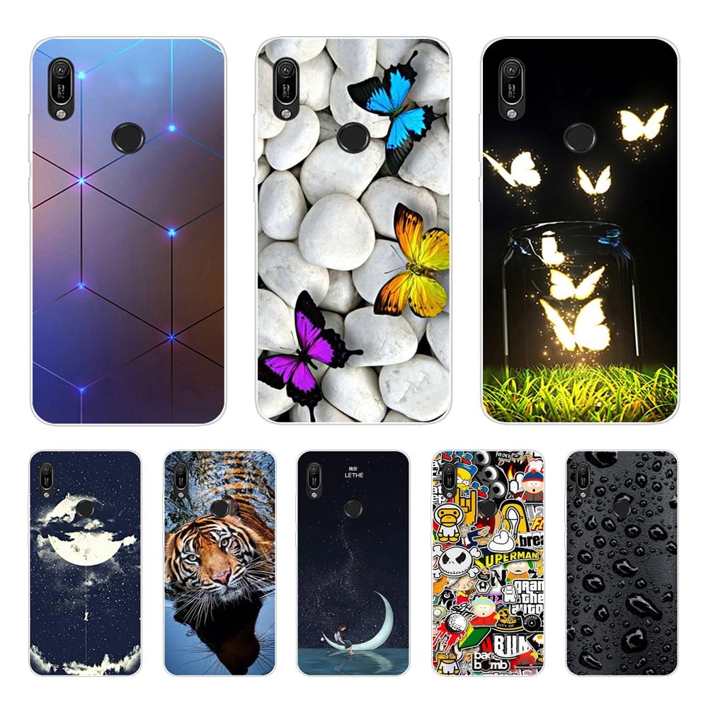 A 6.09'' For Huawei Y6 2019 Case Silicon Soft TPU Phone Case For Coque Huawei Y6 2019 Case Cover Y 6 2019 6Y Fashion Slim Fundas
