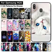 Case For Samsung Galaxy M20 Cat Cartoon cute mobile phone sh