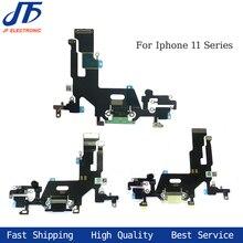 10 pçs novo carregamento flex para iphone 11 pro max usb carregador porto doca conector com microfone cabo flexível substituição