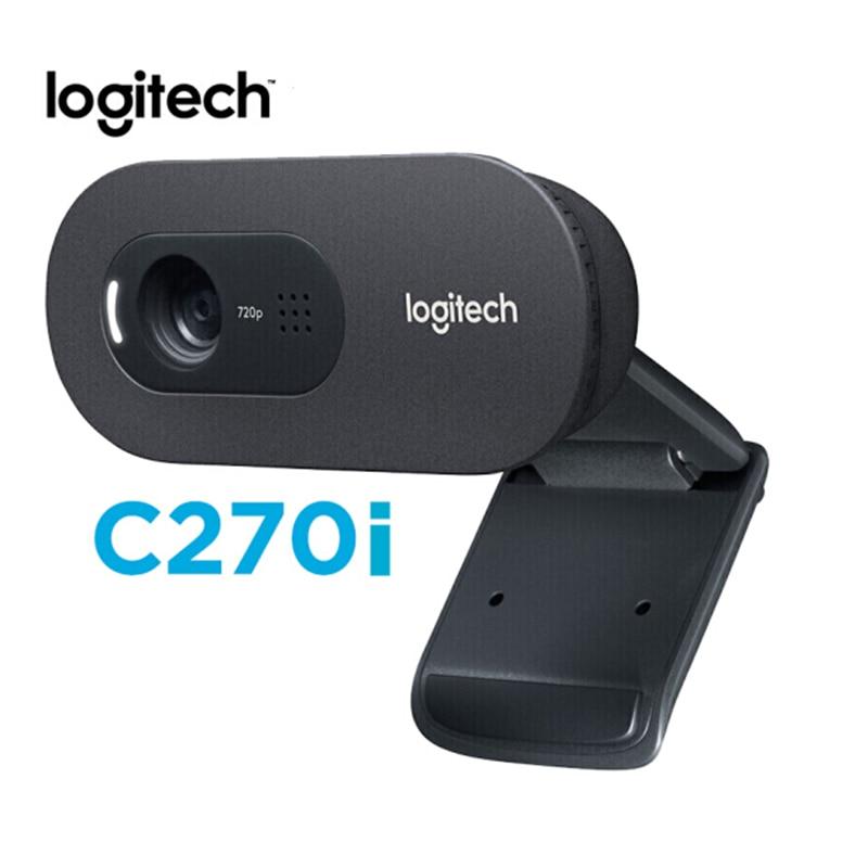 Original Logitech C270i HD Webcam 720p HD Built-in Microphone Web Camera USB2.0 Free Drive Webcam For PC Web Chat Camera