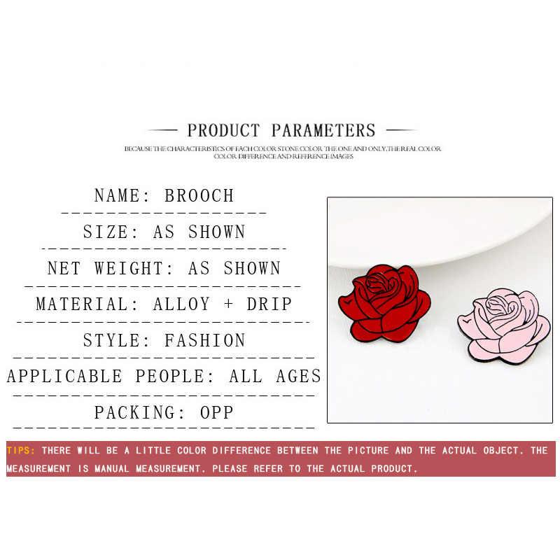 Nowy 2 styl czerwony różowy kwiat prezent na walentynki szpilka do bukieciku moda róża odznaka broszka kurtki damskie plecak biżuteria kołnierz