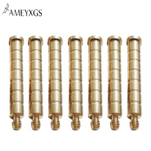 6/12pcs Archery Brass Arrow Weight 100 Grains Screw Point Copper Insert Outdoor Shooting Hunting Accessories 12pcs hgh20ha 100