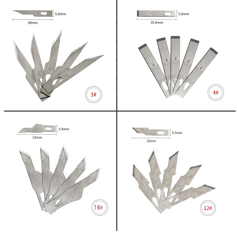 1 шт. Нескользящие металлические лезвия для резьбы по дереву инструменты еда скульптура гравировка нож для канцелярские творческие принадлежности