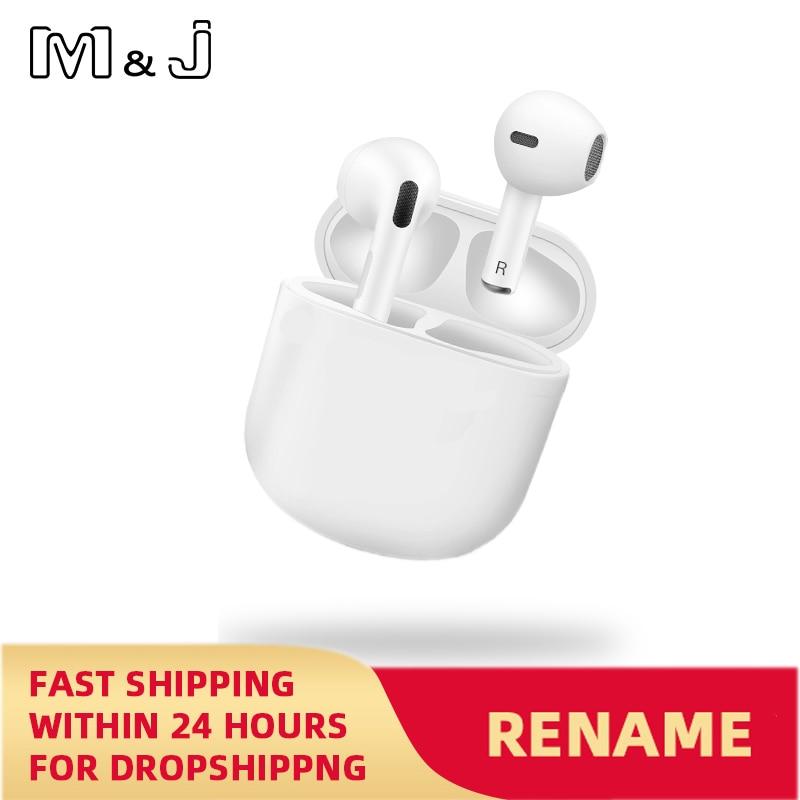 Для MacBook Air Pro 4 наушники-вкладыши TWS с Беспроводной наушники переименовать Bluetooth 5,0 мини наушники с зарядный чехол спортивная Гарнитура для см...
