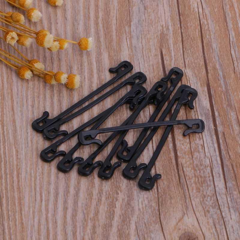 10Pcs עגבניות קליפים סבכת גן ירקות קלסר חוט צמח תמיכה U סוג 72XF